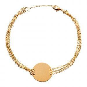 Bracelet with golden disc