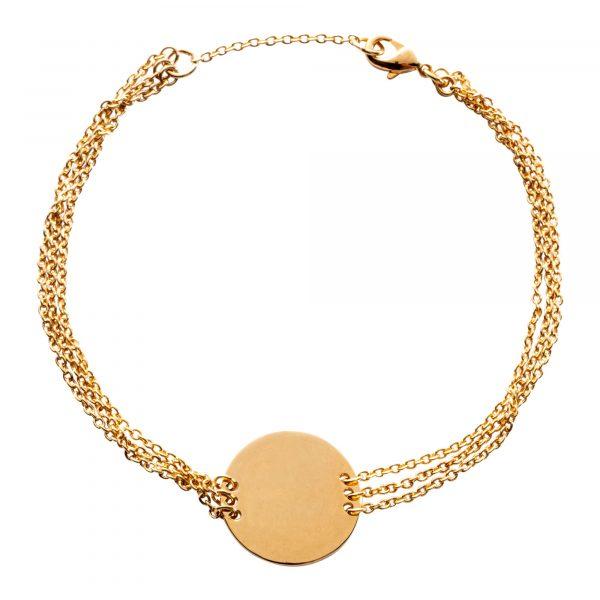 Bracelet|golden disc