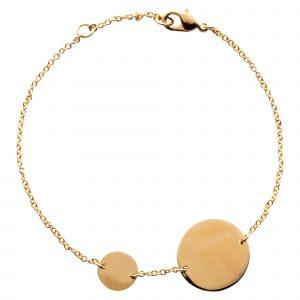 Bracelet with 2 discs