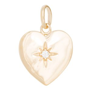 Charm heart with sparkle